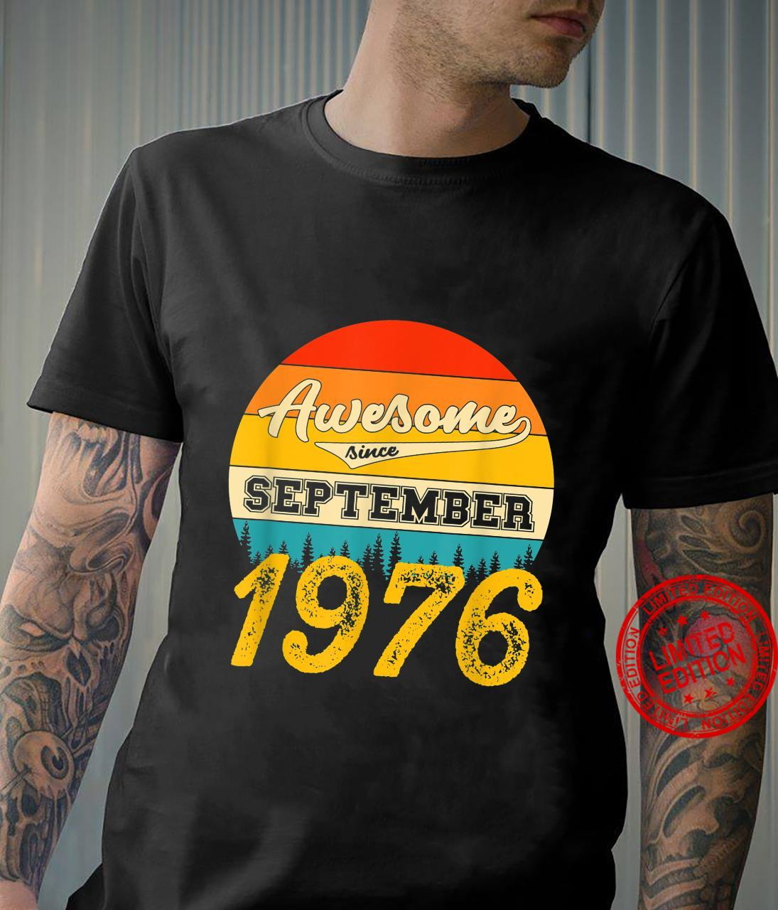 Awesome Since September 1976 45 Years Old Birthday Vintage Shirt