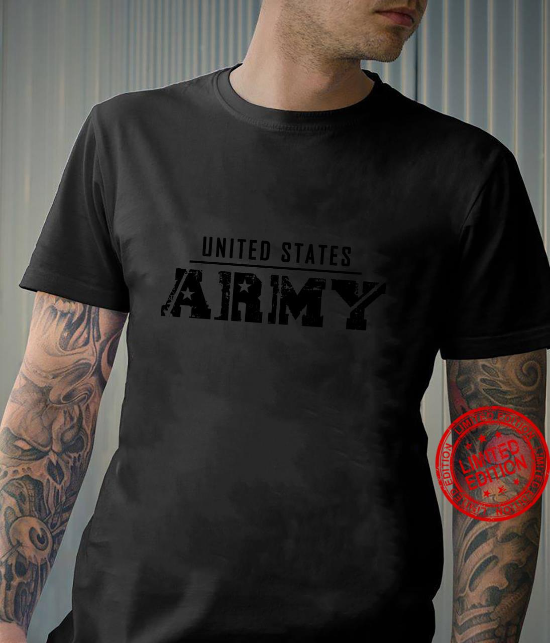 United States Army Veteran Distressed Font Military Shirt